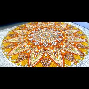 Yellow Mandala throw/blanket